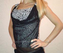 Модная леопардовая блуза футболка
