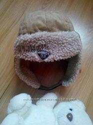 Шапка-ушанка, тёплая на флисе до 3 лет.