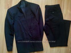 Классический черный костюм по супер цене размер 48