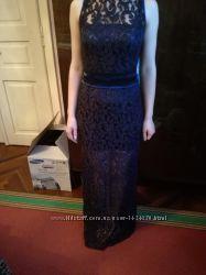 Вечернее гипюровое платье в пол, разм. S, сост. нового