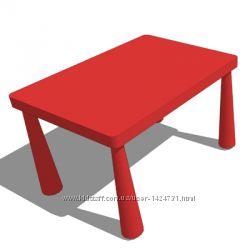 Стол детский Красный, Маммут Mammut Ikea Икеа