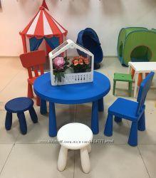 Стол детский синий, Маммут Mammut Ikea Икеа 00267570 В наличии