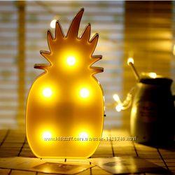 Светильник ананас и фламинго