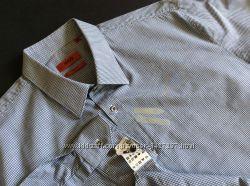 Мужская рубашка HUGO BOSS slim fit оригинал  Размер XL