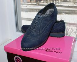 Туфли на шнурках ORONZO 36 р. с эко-замши
