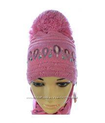 Продам зимний комплект шапка и шарф для девочки