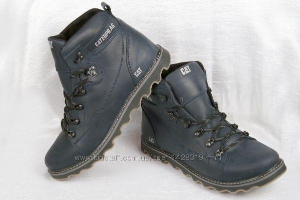Мужские зимние ботинки кожаные 00073
