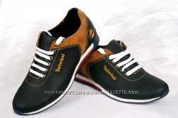 Кожаные мужские кроссовки 0021