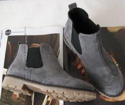Timberland женские серые стильные ботинки замша модные обувь осень весна