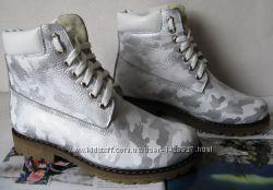 Timberland женские Кожаные ботинки натуральная шерсть обувь зима взуття