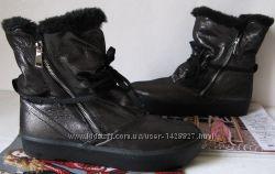 Sofi зима Стильные женские сапоги угги кожаные чёрные ботинки обувь шерсть