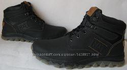 Суперские Зимние мужские ботинки CAT обувь натуральная кожа Катерпиллар уют
