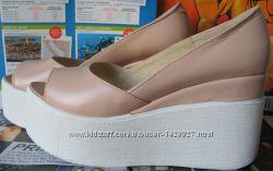 Mante босоножки на платформе танкетка туфли с открытым носком лето красота