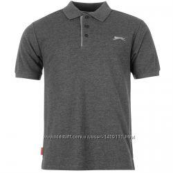 Slazenger Plain Мужская Рубашка-Поло Тёмно-Серая