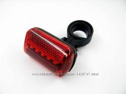 Задний Фонарь на Велосипед 5 LED - качественно сделанный. Компактный.