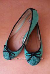 Женские туфли балетки лодочки CENTRO эко замша, удобные легкие стильные.