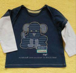 Мягенький и приятный к телу реглан для мальчика 9-12 месяцев. Качество