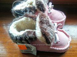 Меховые, натуральные тапочки на деток из Германии