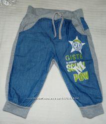 Летние штаны под джинсы на 3-7 мес