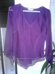 Легкая шифоновая блуза сиреневого цвета