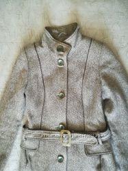 Шерстяное пальто до колен р. 44