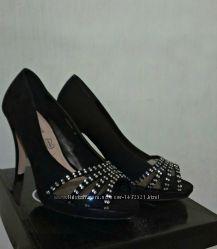 босоножки черные туфли 38- 39р новые на платформе