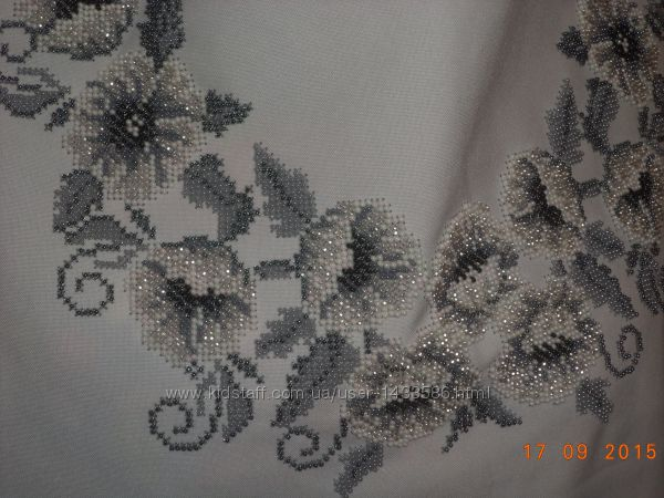 Вышиванка женская бисером, под заказ