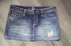 хит сезонаклассная рваная джинсовая юбка 44-46состояние новой