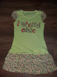 Красивое хлопковое платье Gee Jay р. 110- 116 см. Одето 1 раз