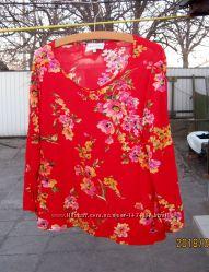 Блуза Francesca-Италия , р. XL, новая, цвет-красный.