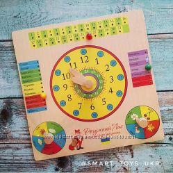 Часы и календарь досточка