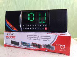 Часы, будильник, радиоприемник, портативная колонка Bluetooth WS-1515ВТ