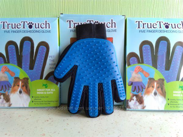 Перчатка для вычесывания, массажа и купания животных