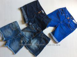 Джинсовые шорты для девочки от 5-13 лет