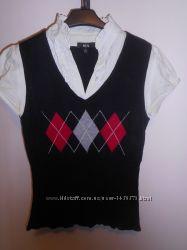Блузка з жилеткою