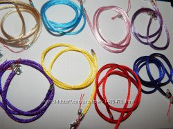 Шнурки шовкові для хрестика чи кулона срібло 925 проба