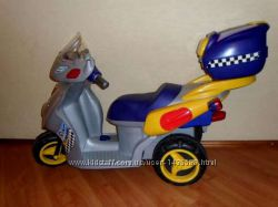 Электромобиль скутер мотоцикл детский большой