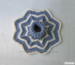 полосатая женская манишка унисекс вместо шарфа