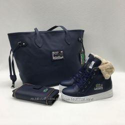 Стильный набор Лакостасумка, кошелёк, обувь