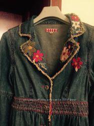 Отличный джинсовый стильный плащик от Fornarina