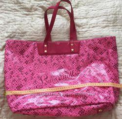 955ac893ae2a Уникальная большая силиконовая пляжная сумка с кожаными ручками LV