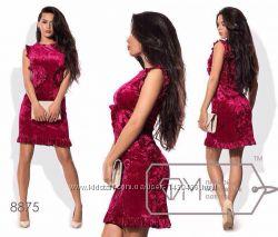 Женское платье велюровое