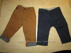 пара новых летних брюк хлопок 68-74см