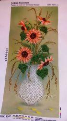 вышитая бисером картина Подсолнухи