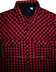 6a3bf90f54a Мужская рубашка в клетку цветная красная черная яркая H M Divided M