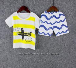 Детский летний костюм шорты и футболка 2T, 3T и 4Т в наличии