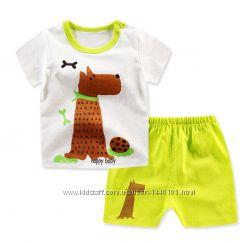 Детский летний костюм 12 мес в наличии футболка и шорты