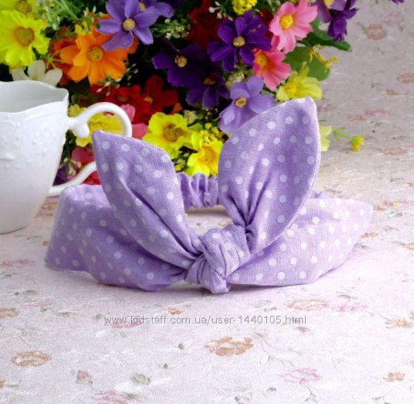Детские повязки повязочки солошки солошка повязочка бант в наличии