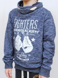 Толстовка Boxer 8-14 лет  синий и графит