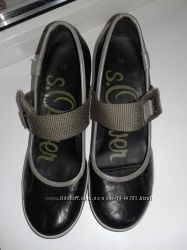 кожаные женские туфли фирмы S. Oliver